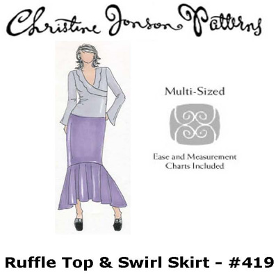 Christine Jonson Swirl Skirt & Ruffle Top 419