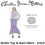 Christine Jonson Swirl Skirt & Ruffle Top