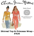Christine Jonson Shirred Top & Princess Wrap