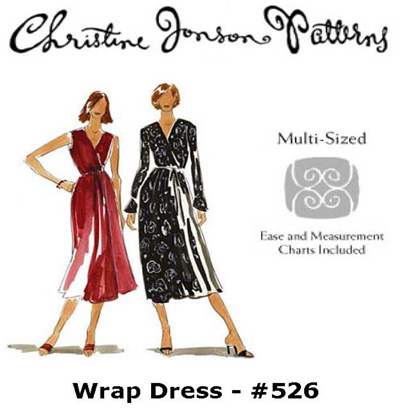Christine Jonson Wrap Dress 526