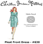 Christine Jonson Pleat Front Dress