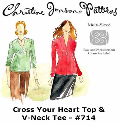 Christine Jonson Cross Your Heart Top & V-Neck Tee 714