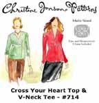 Christine Jonson Cross Your Heart Top & V-Neck Tee