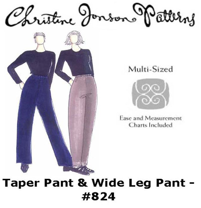 Christine Jonson Taper Pant & Wide Leg Pant 824