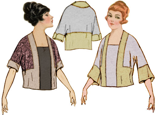 Decades of Style 1920 Tunic with Kimono Sleeve 1902