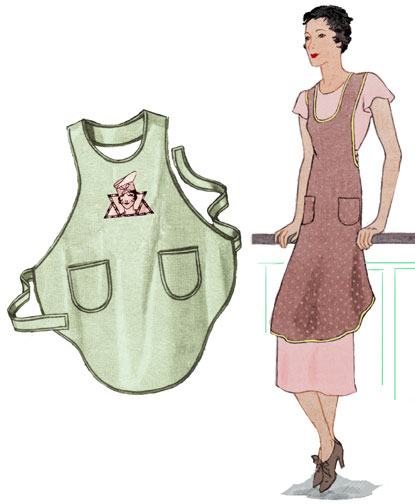 Decades of Style 1928 Flapper Apron 2802