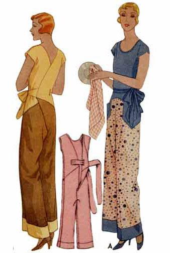 Decades of Style 1930 Kitchenette Pajamas 3001