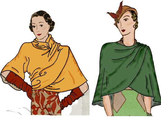 Decades of Style 1932 Wrap and Cape 3201