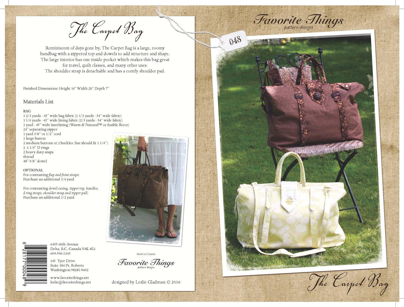 Favorite Things A Carpet Bag 048