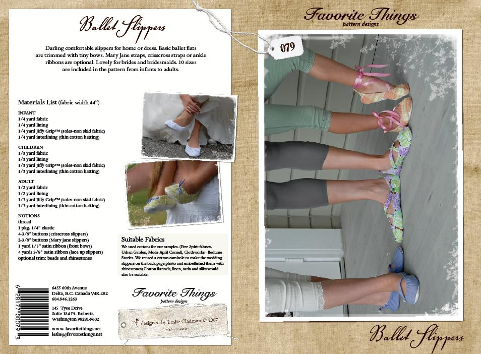 Favorite Things Ballet Slippers 079