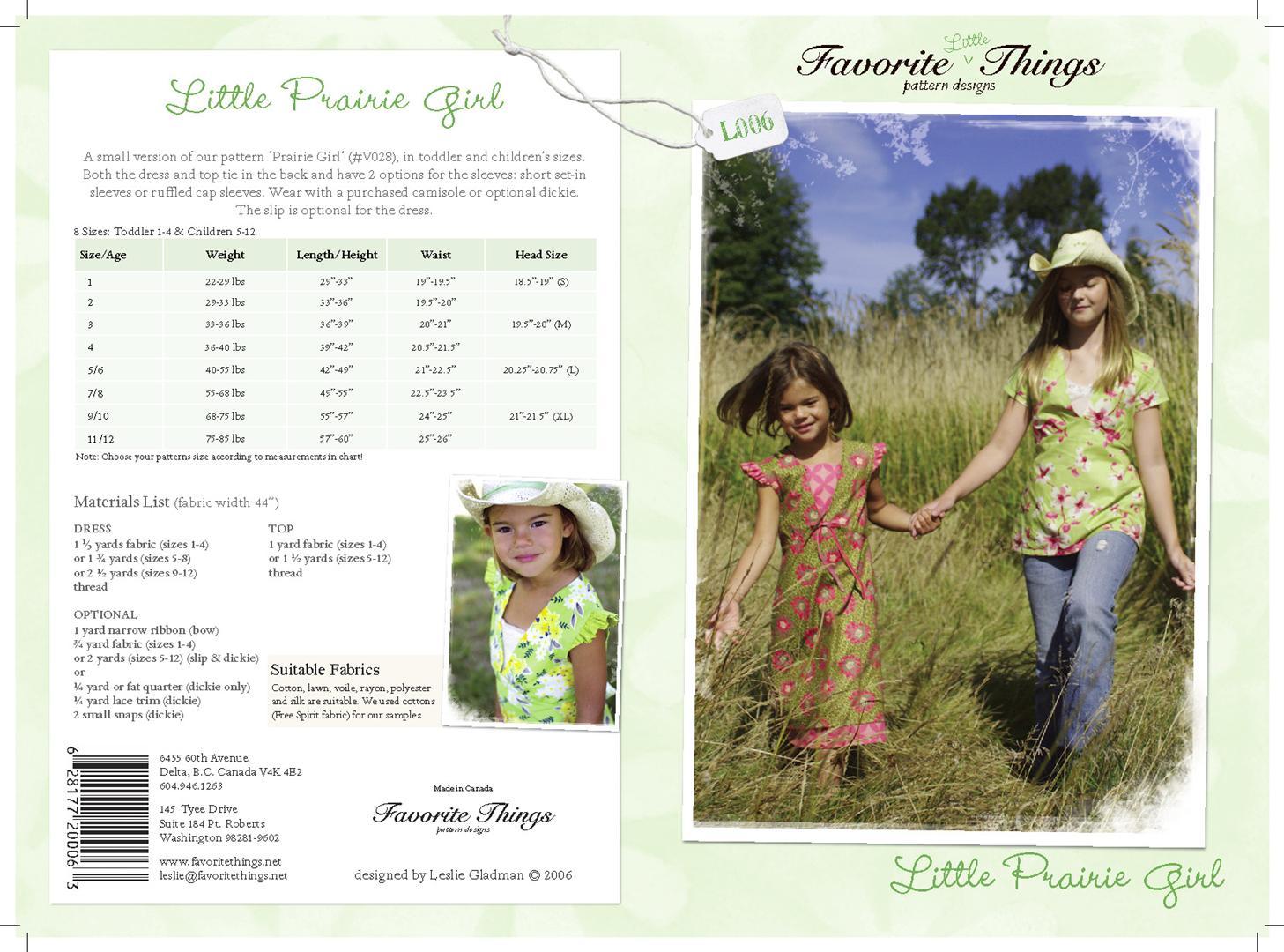 Favorite Things Little Prairie Girl L006