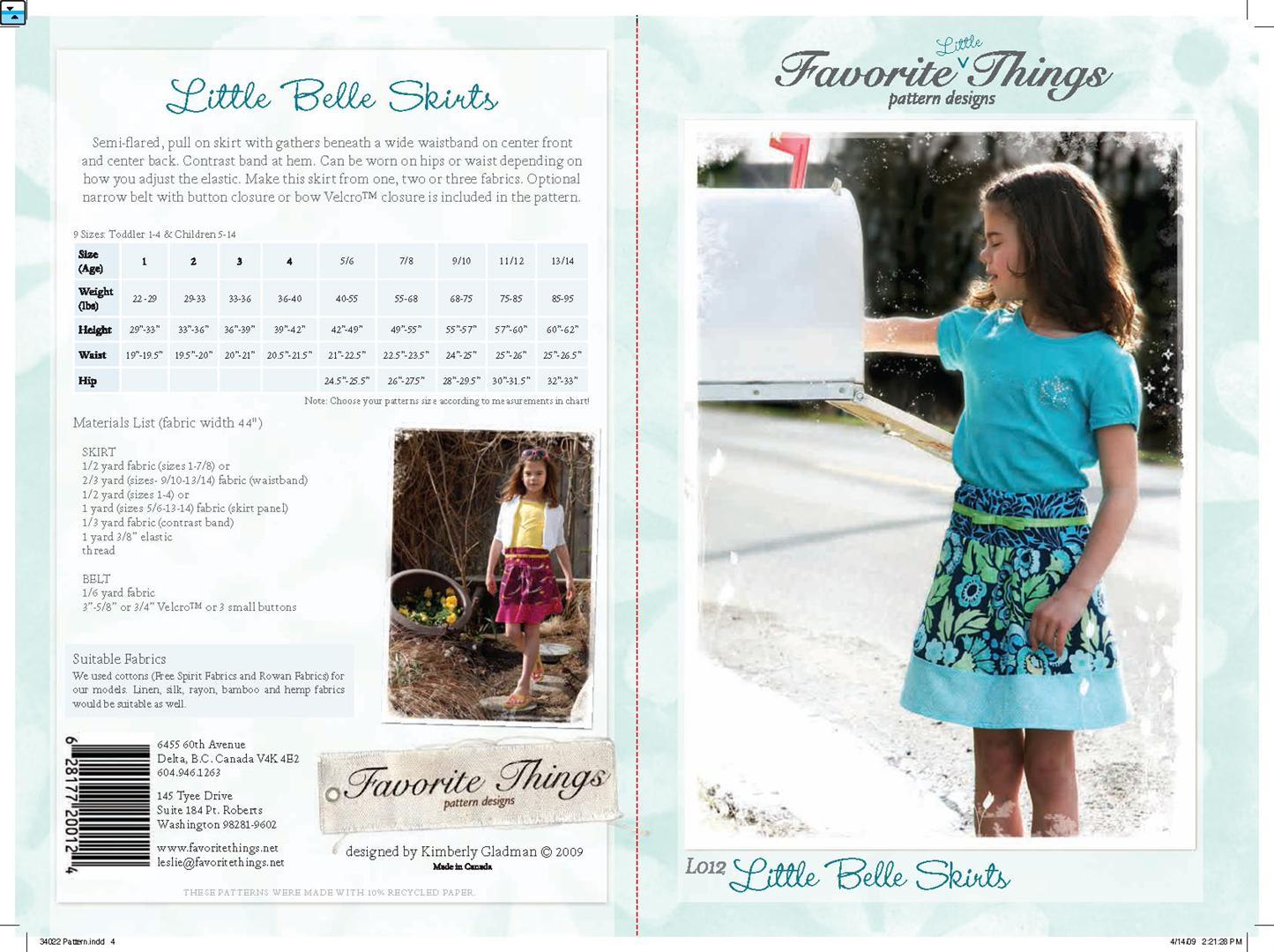 Favorite Things Little Belle Skirts L012