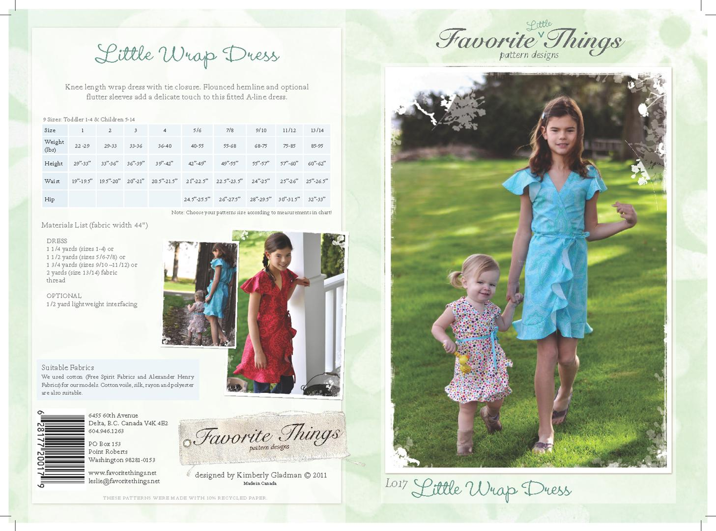 Favorite Things Little Wrap Dress L017