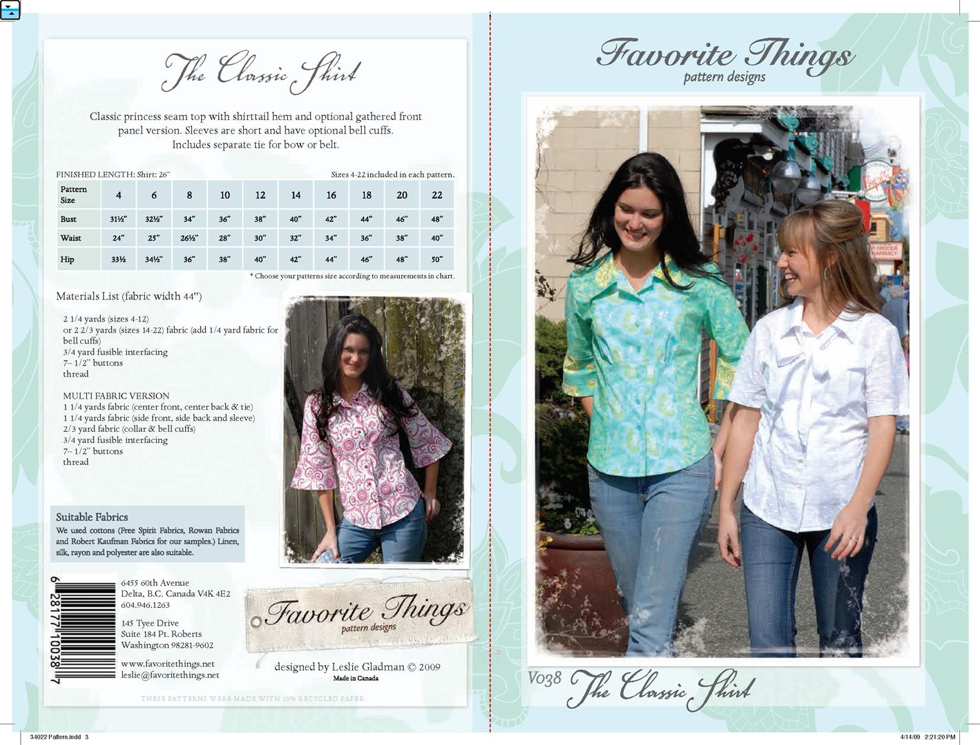 Favorite Things The Classic Shirt V038