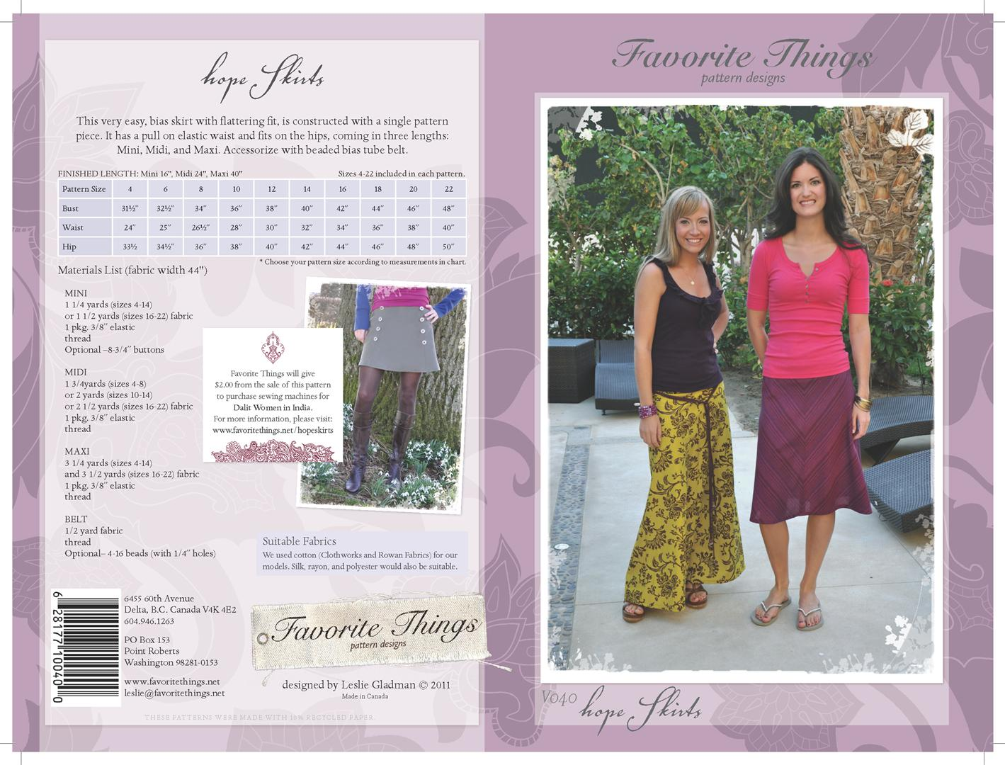 Favorite Things Hope Skirts V040