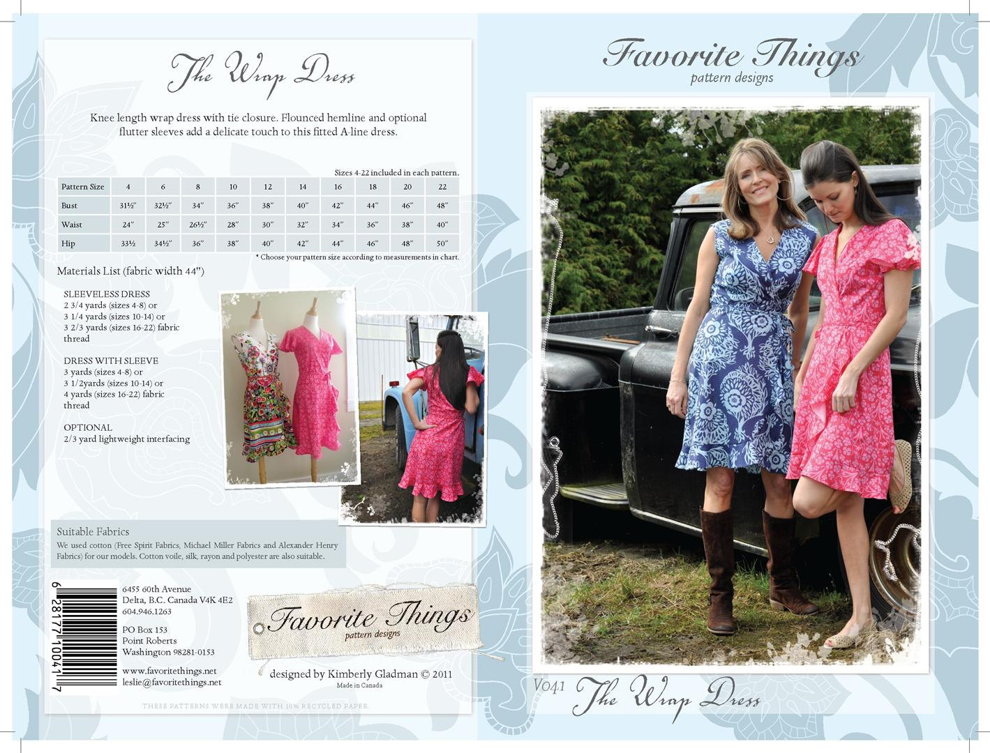 Favorite Things The Wrap Dress V041