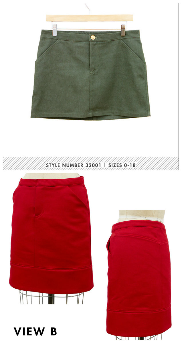 Grainline Studio Moss Mini Skirt 12001