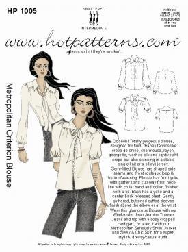 HotPatterns Metropolitan Criterion Blouse 1005