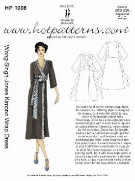 HotPatterns WSJ Kimono Wrap Dress 1008