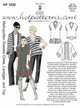 HotPatterns Metropolitan Sweater Dress, Cardigan and Top 1032