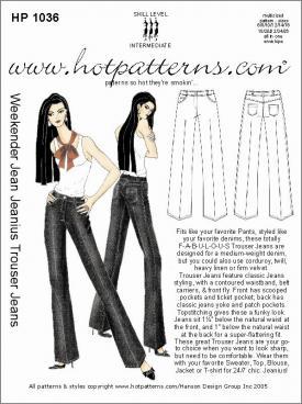 HotPatterns Weekender Jean Jeanius Trouser Jeans 1036