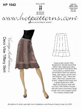 HotPatterns Vintage Hot patterns Deco Vibe Tiffany Skirt 1042