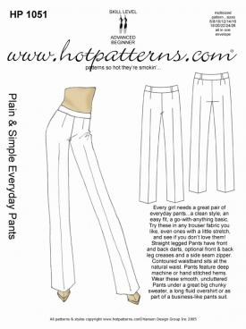 HotPatterns Plain and Simple Everyday Pants 1051