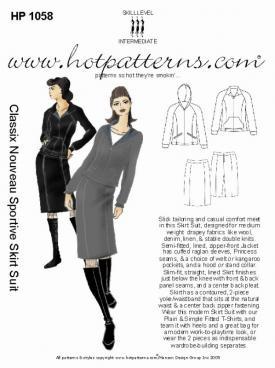 HotPatterns Classix Nouveau Sportive Skirt Suit 1058