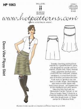 HotPatterns Deco Vibe Flippy Skirt 1063