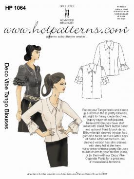 HotPatterns Deco Vibe Tango Blouses 1064
