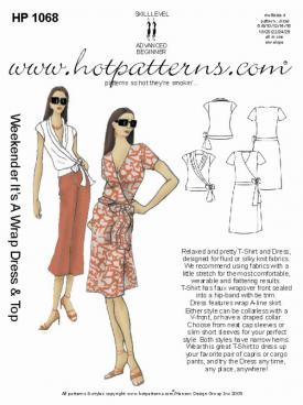 HotPatterns Weekender It�s a Wrap Top and Dress 1068