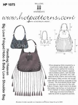 HotPatterns Handbag Heaven Big Love Fringed Hobo and Baby Love Shoulder Bag 1075