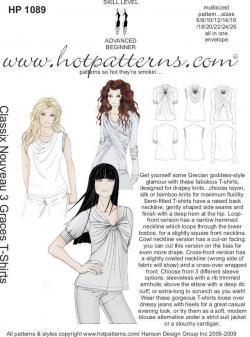 HotPatterns Classix Nouveau 3 Graces T-Shirts 1089