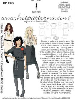 HotPatterns Classix Nouveau Uptown Downtown Knit Dress 1090