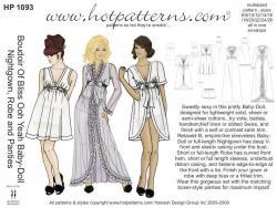 HotPatterns Boudoir Of Bliss Ooh Yeah Baby-Doll, Nightgown, Robe & Panties 1093