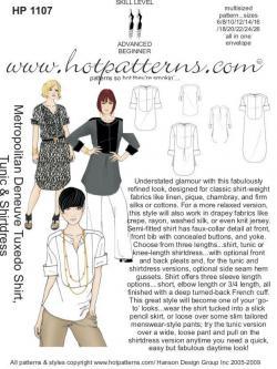HotPatterns Metropolitan Deneuve Tuxedo Shirt 1107