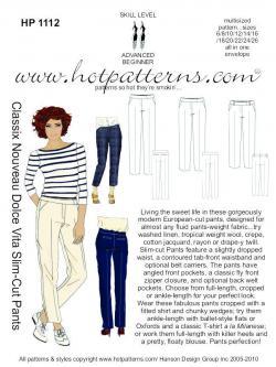 HotPatterns Classix Nouveau Dolce Vita Slim-Cut Pants 1112
