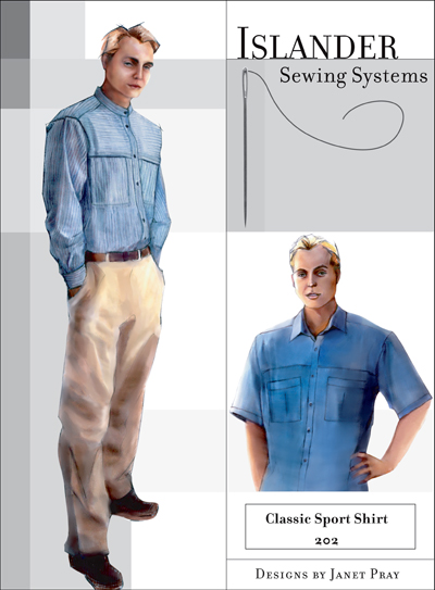 Islander Sewing Systems Men's Classic Sport Shirt Pattern
