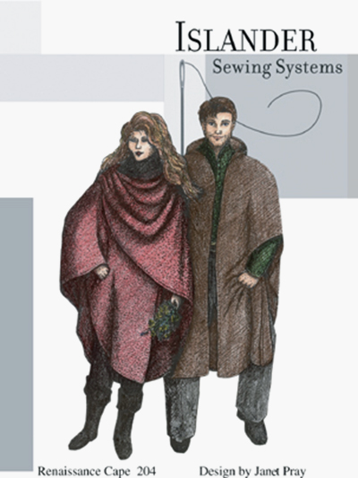 Islander Sewing Systems Renaissance Cape Pattern Pattern