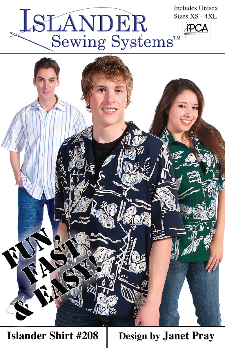 Islander Sewing Systems Men's Islander Shirt Pattern Pattern