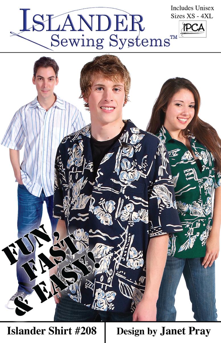 Islander Sewing Systems Men's Islander Shirt Pattern 208