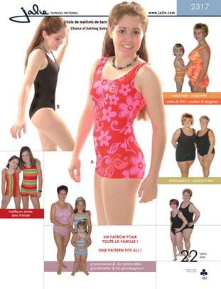 Jalie 2317 Choice of bathing suits