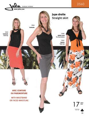 Jalie Straight Skirt 2560