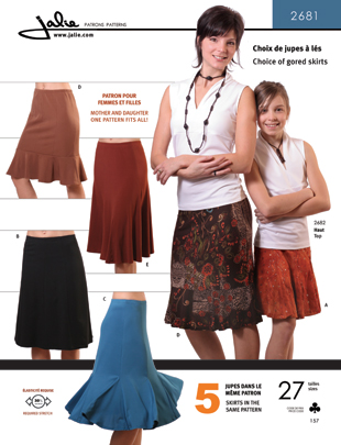 Jalie Choice of Gored Skirts 2681