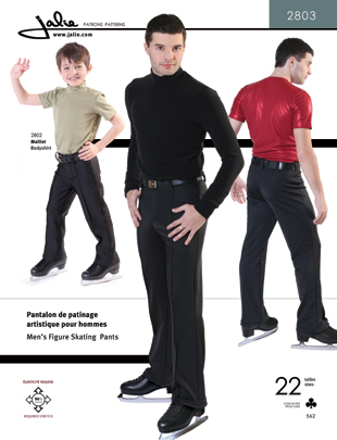 Jalie Men and boys' figure skating pants 2803