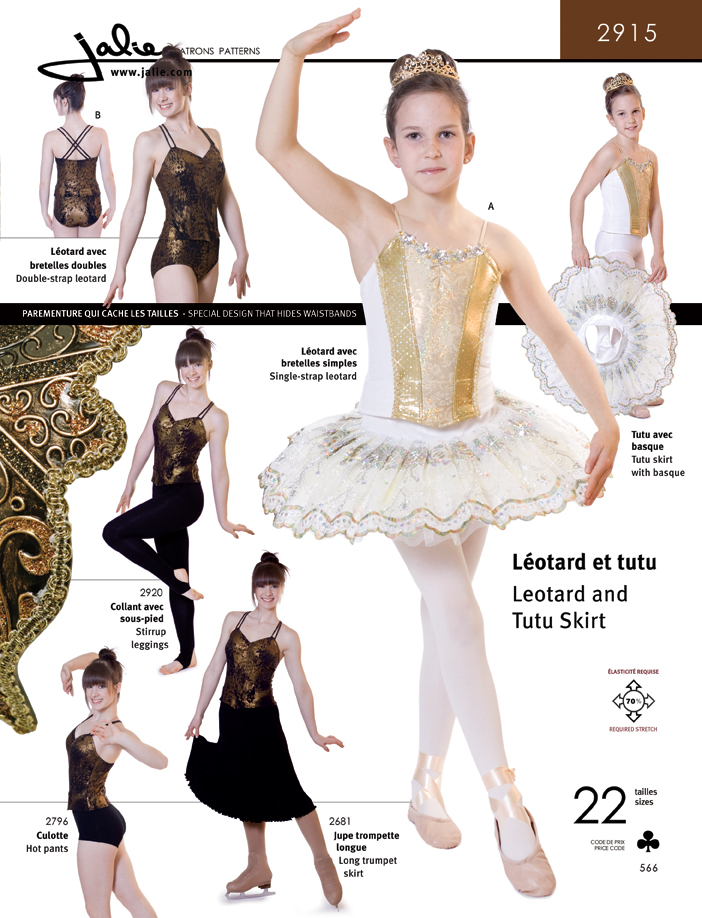 Jalie Ballet leotard and Tutu Skirt 2915
