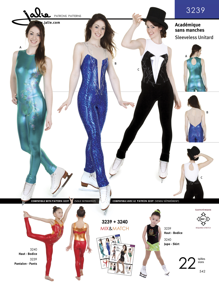 Jalie Long Sleeveless Unitard 3239