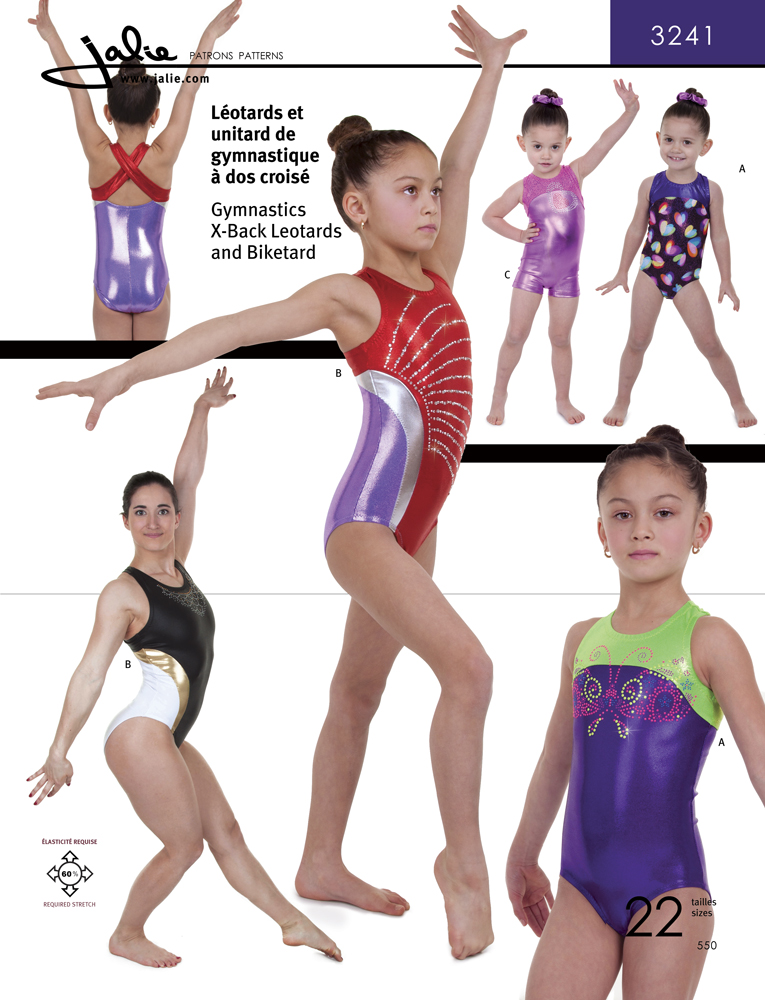 Jalie X-Back Gymnastics Leotards and Biketard 3241