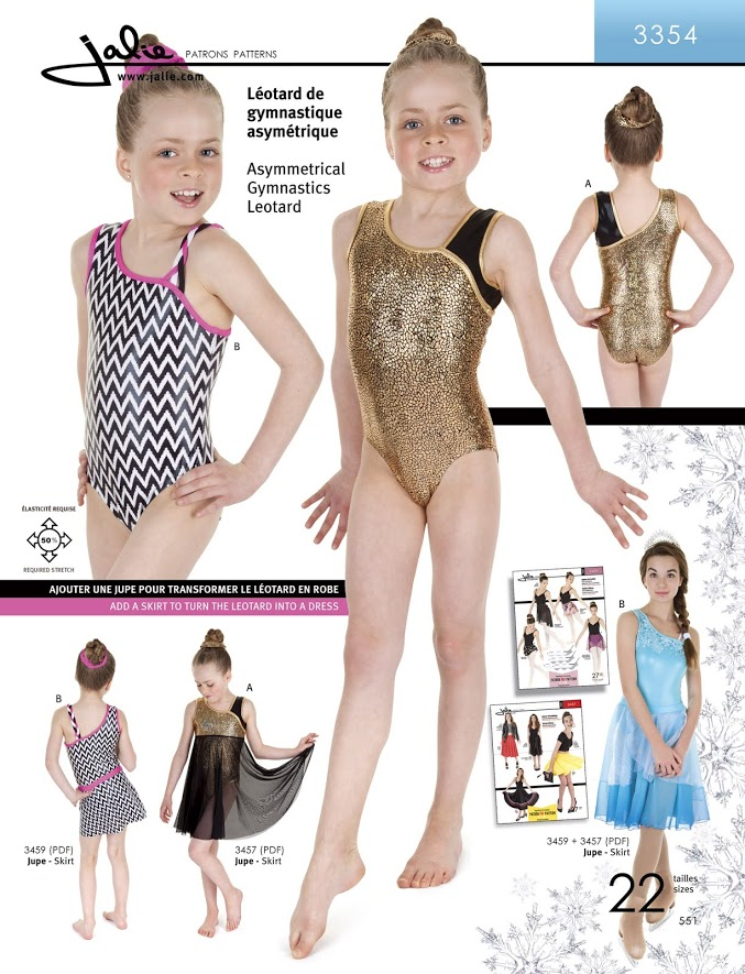 Jalie Asymmetrical Gymnastics Leotard 3354