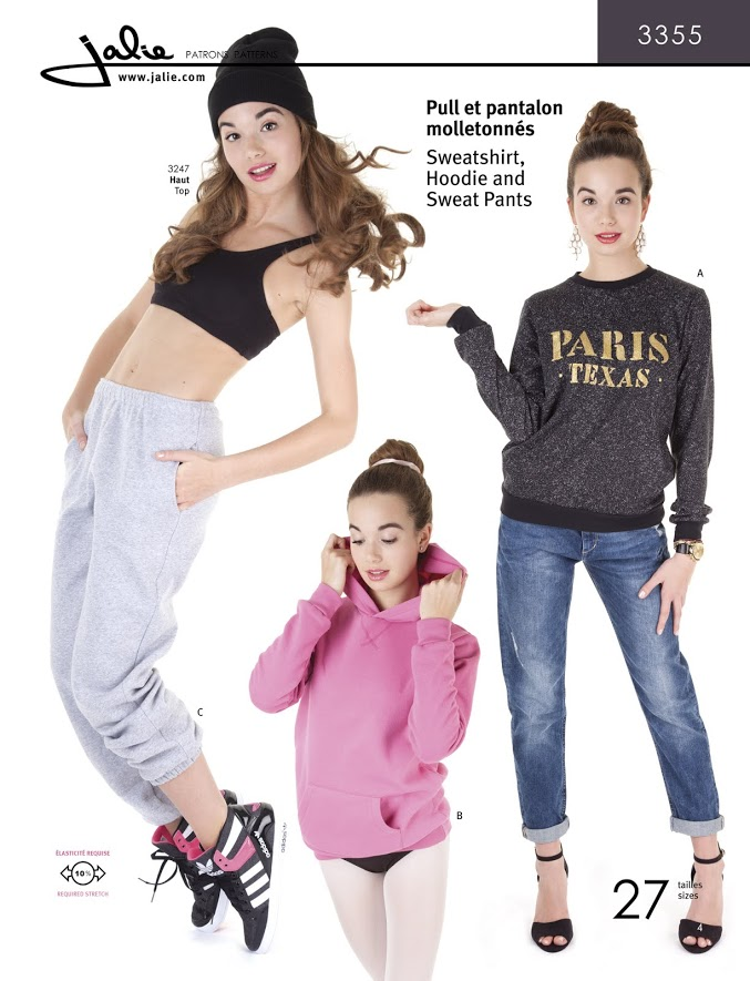 Jalie Sweatshirt, Hoodie and Sweat Pants 3355